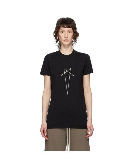 Rick Owens Drkshdw ブラック Pentagram T シャツ Black