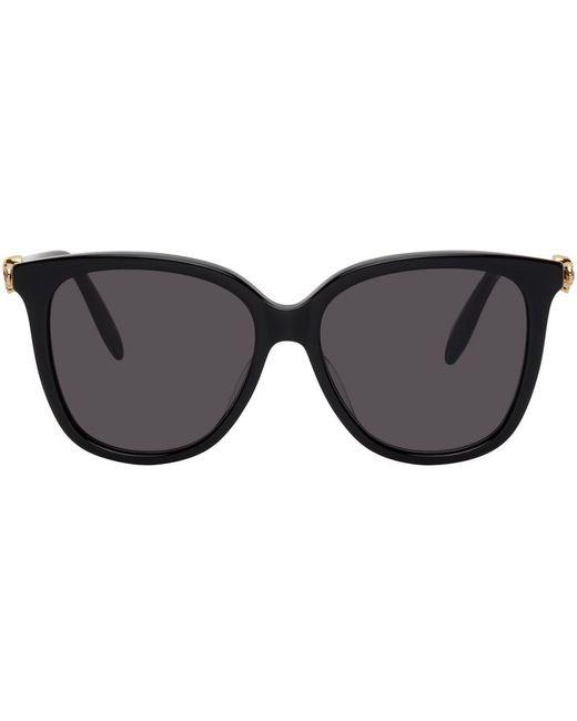 Alexander McQueen ブラック Skull Droplets サングラス Black
