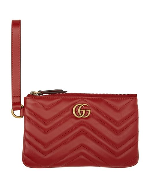 Gucci Red GG Marmont Wallet