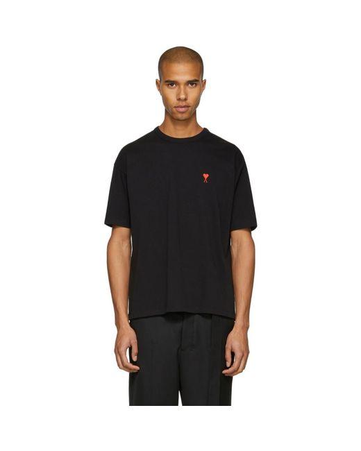 AMI - Ssense Exclusive Black Ami De Coeur T-shirt for Men - Lyst