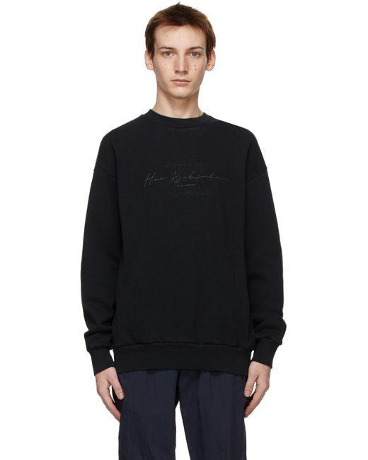 メンズ Han Kjobenhavn ブラック Artwork スウェットシャツ Black