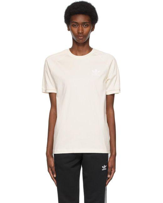 Adidas Originals オフホワイト 3 Stripes T シャツ White