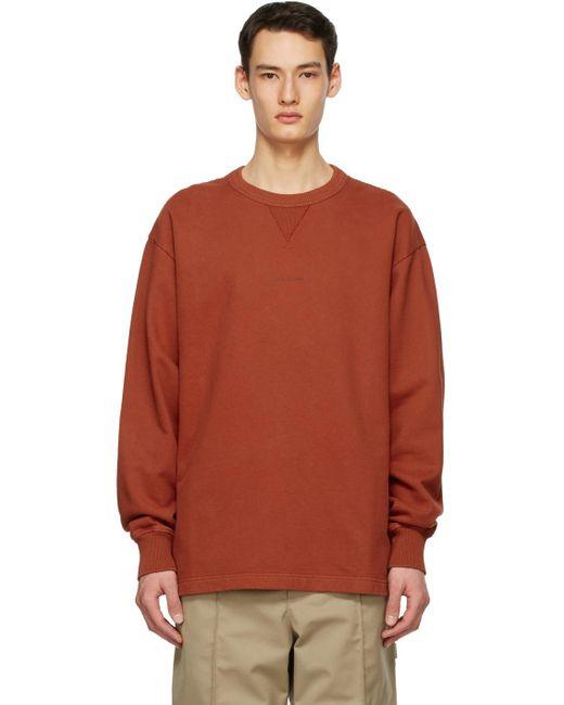 メンズ Acne オレンジ ロゴ スウェットシャツ Orange