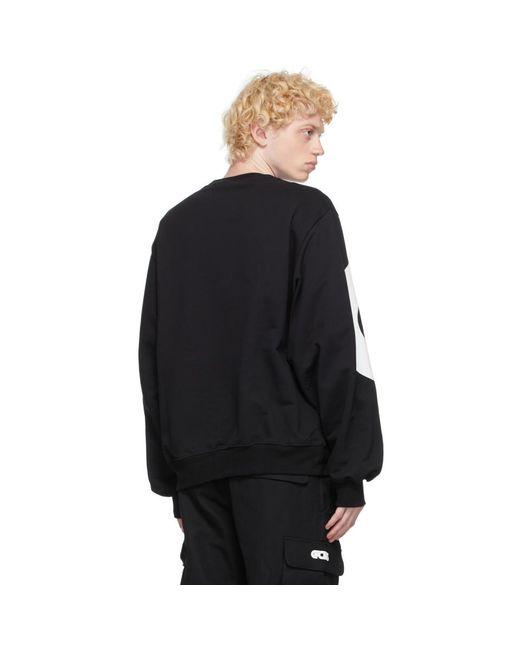 メンズ Gcds ブラック Macro ロゴ スウェットシャツ Black