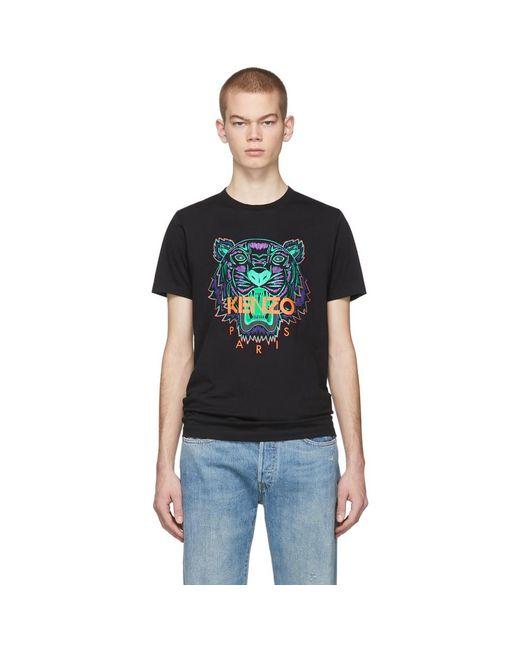 メンズ KENZO 限定エディション Holiday コレクション ブラック タイガー T シャツ Black
