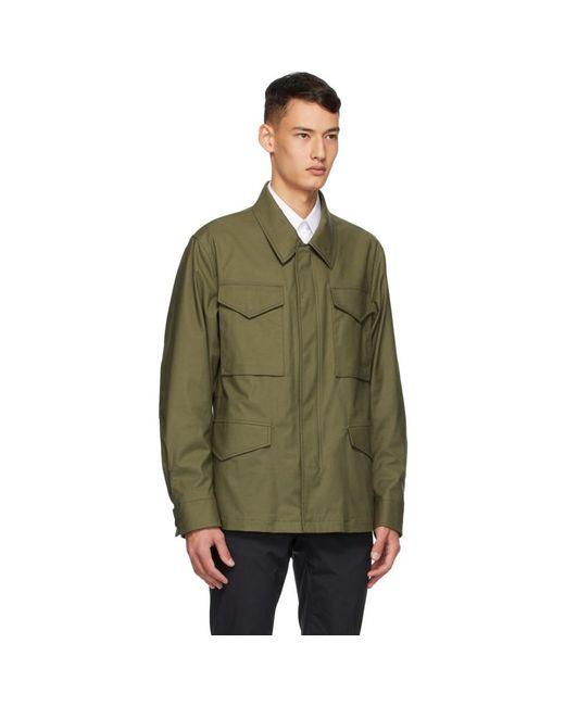 メンズ Dunhill グリーン ツイル フィールド ジャケット Green