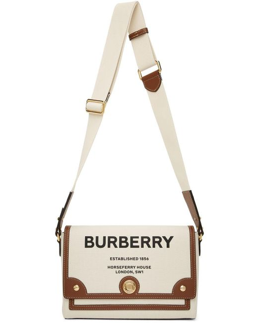 Burberry オフホワイト & ブラウン Horseferry バッグ Multicolor