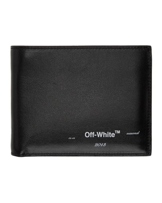 メンズ Off-White c/o Virgil Abloh ブラック ロゴ バイフォールド ウォレット Black