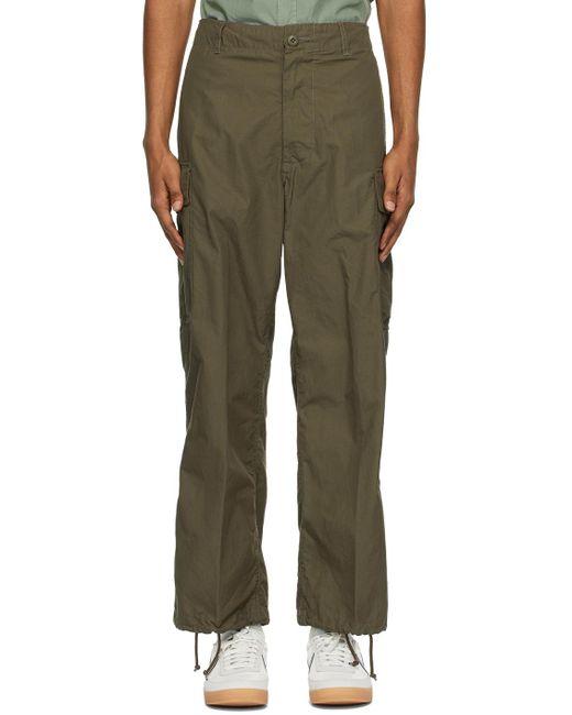 メンズ Beams Plus カーキ 6-pocket カーゴ パンツ Green