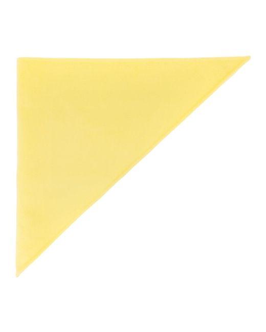 Marc Jacobs イエロー カシミア Triangle ヘッド スカーフ Yellow