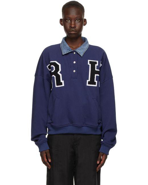 Rhude ブルー Collegiate スウェットシャツ Blue