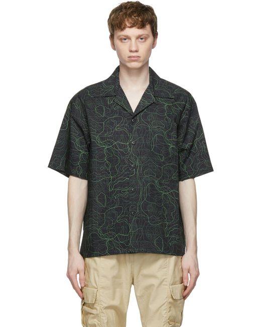 メンズ John Elliott ブラック & グリーン Camp ショート スリーブ シャツ Multicolor