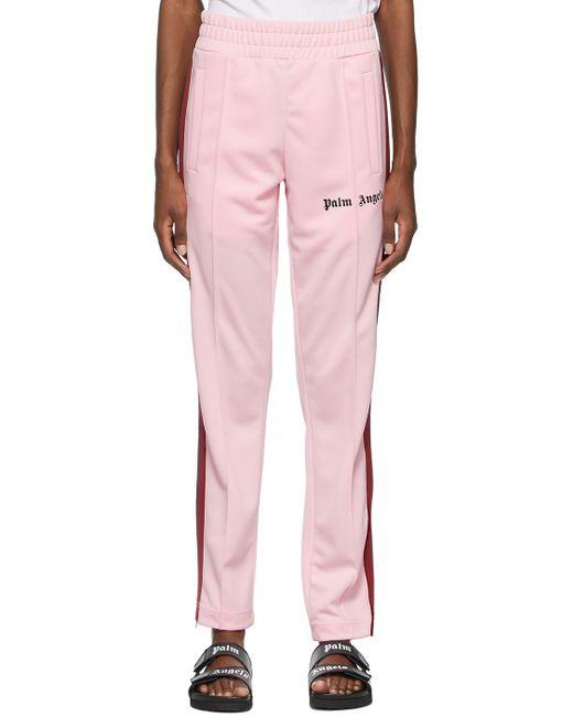Palm Angels ピンク & バーガンディ トラック ラウンジ パンツ Pink