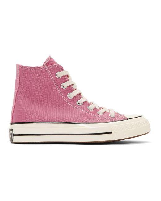 Converse ピンク Chuck 70 ハイ スニーカー Pink