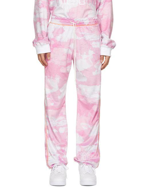 メンズ Phlemuns ピンク トラック ラウンジ パンツ Pink