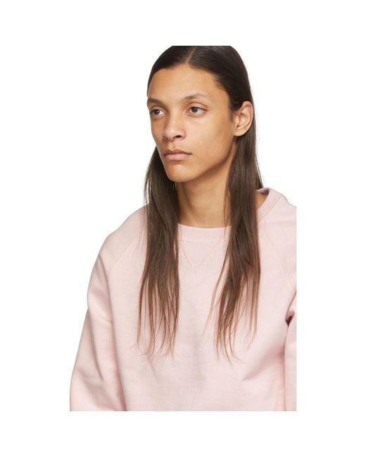 メンズ Random Identities ピンク フリース スウェットシャツ Pink