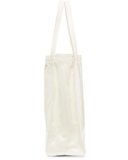 Acne ホワイト ワイド Oilcloth トート White