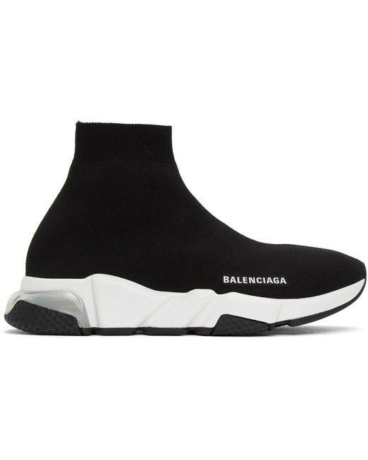 メンズ Balenciaga Clear Sole Speed スニーカー Black