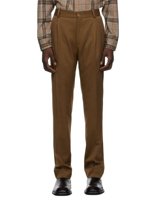 メンズ Han Kjobenhavn ブラウン Single Suit トラウザーズ Brown