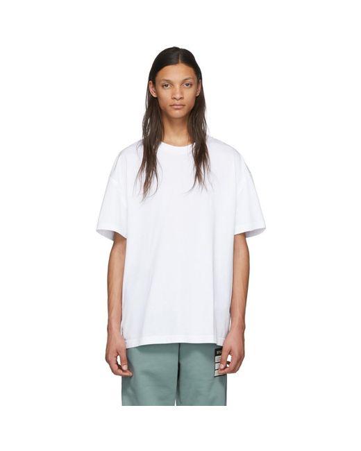 メンズ Maison Margiela ホワイト シーム ディテール T シャツ White