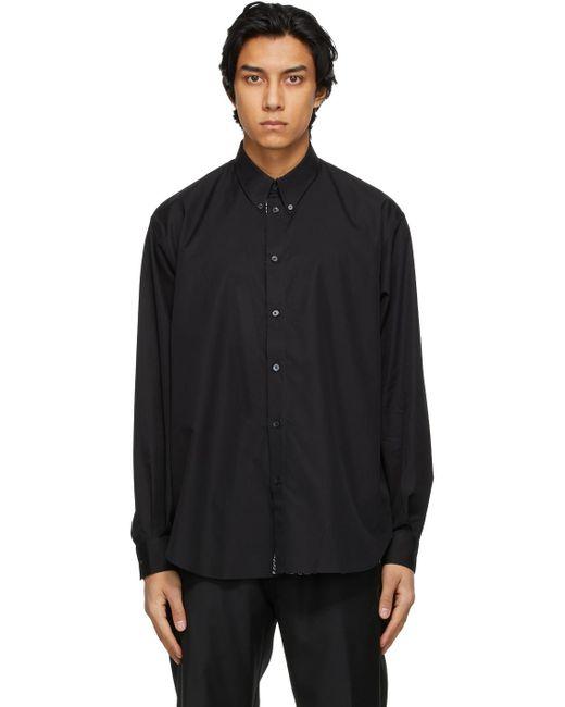 メンズ Givenchy ブラック Refracted ロゴ シャツ Black