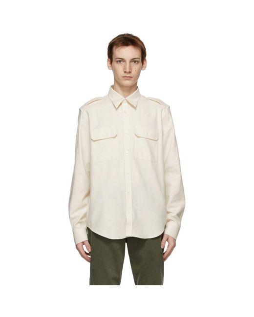 メンズ Helmut Lang オフホワイト Strap シャツ White