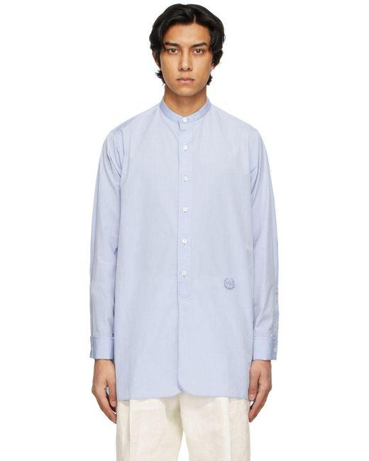メンズ Maison Margiela ブルー シャツ Blue