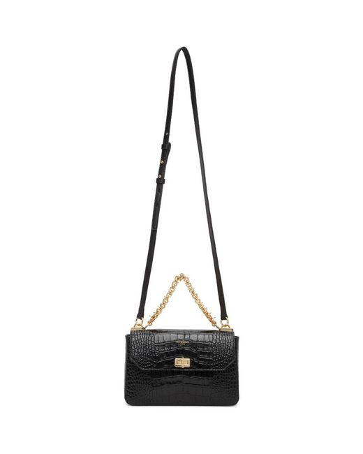 Givenchy ブラック クロコ スモール Catena バッグ Black
