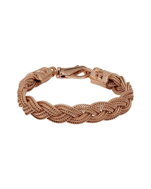 Emanuele Bicocchi Multicolor Ssense Exclusive Rose Gold Flat Braided Bracelet for men