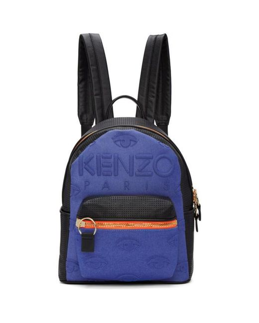 KENZO   Blue & Black Kombo Backpack   Lyst