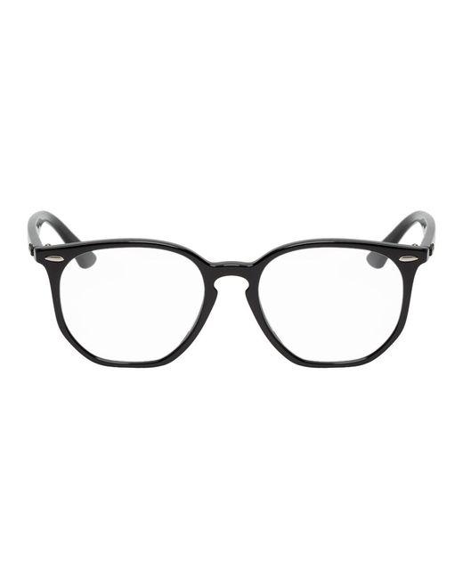 メンズ Ray-Ban ブラック イレギュラー グラス Black