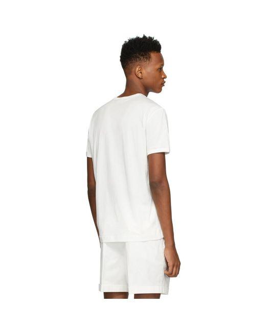 メンズ Dolce & Gabbana ホワイト エンブロイダリー ロゴ T シャツ White