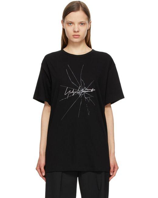 Yohji Yamamoto ブラック ロゴ T シャツ Black