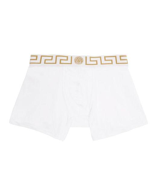 メンズ Versace ホワイト メドゥーサ ボクサー ブリーフ White