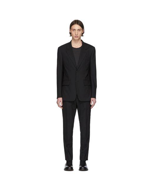 メンズ Maison Margiela ブラック ウール ポプリン スーツ Black