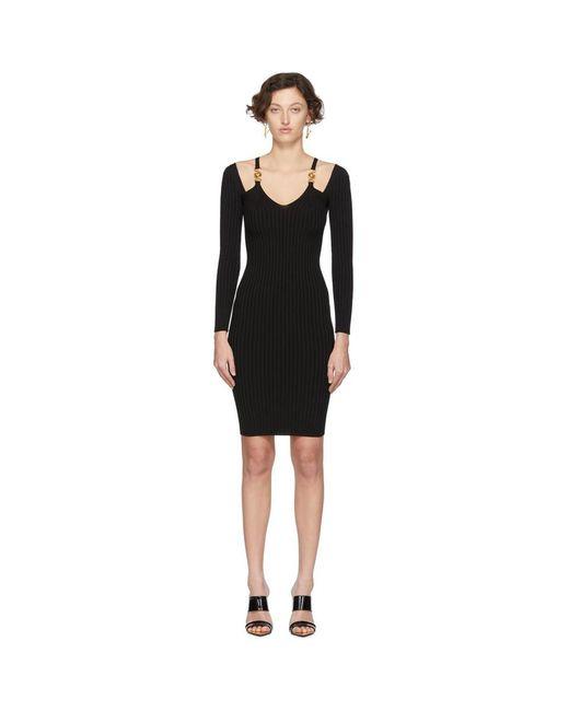 Versace ブラック ニット メドゥーサ ドレス Black