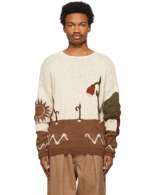 メンズ STORY mfg. マルチカラー Keeping セーター Multicolor