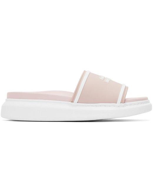 Alexander McQueen ピンク ロゴ サンダル Pink