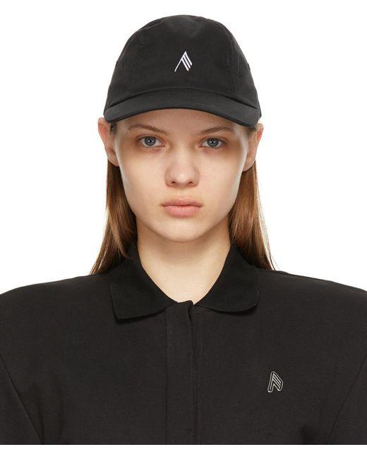 The Attico ブラック ロゴ キャップ Black