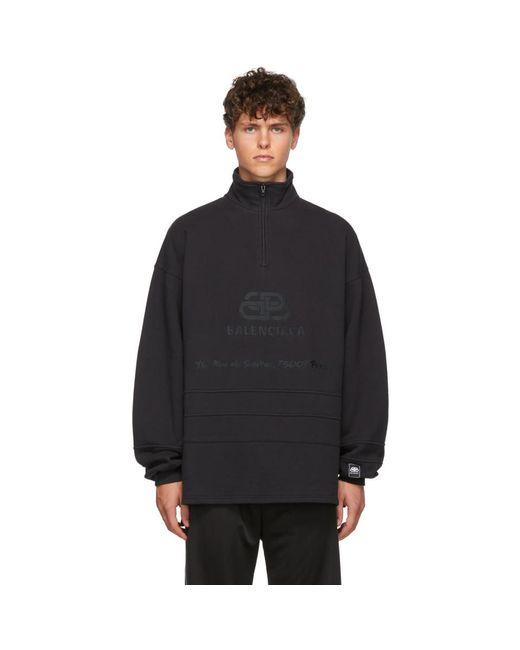 Pull noir BB Address Balenciaga pour homme en coloris Black
