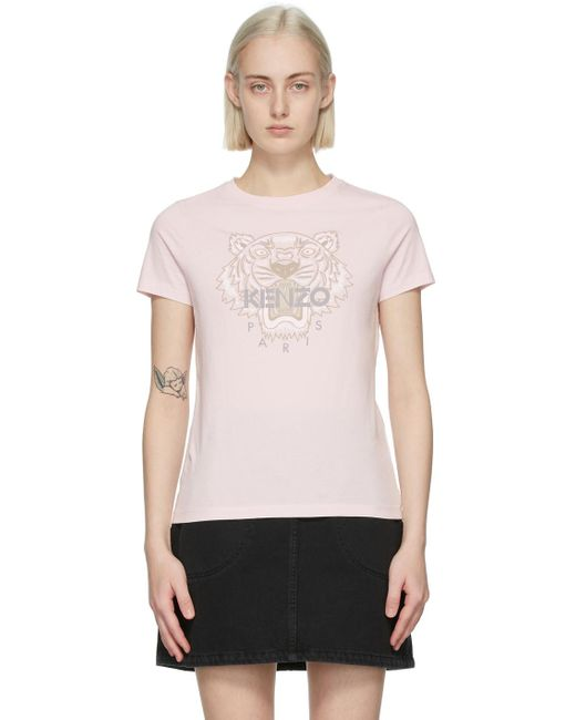 KENZO ピンク クラシック Tiger T シャツ Pink