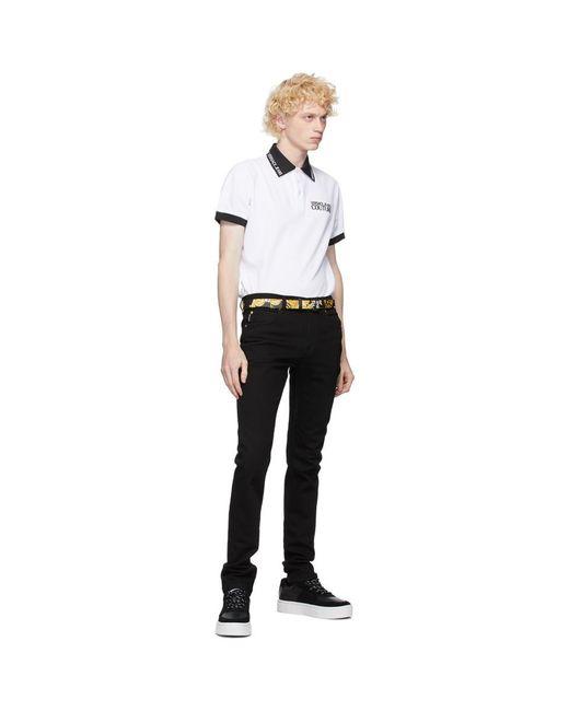メンズ Versace Jeans ブラック And ゴールド Barocco ベルト Black