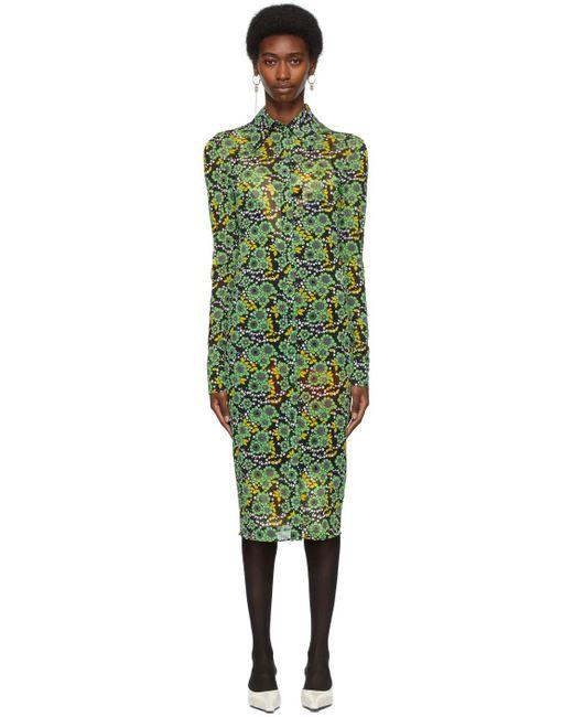 Kwaidan Editions Ssense 限定 ブラック & グリーン ドレス Green