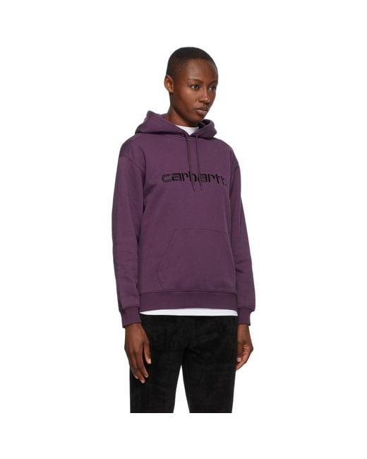 Carhartt WIP パープル ロゴ フーディ Purple