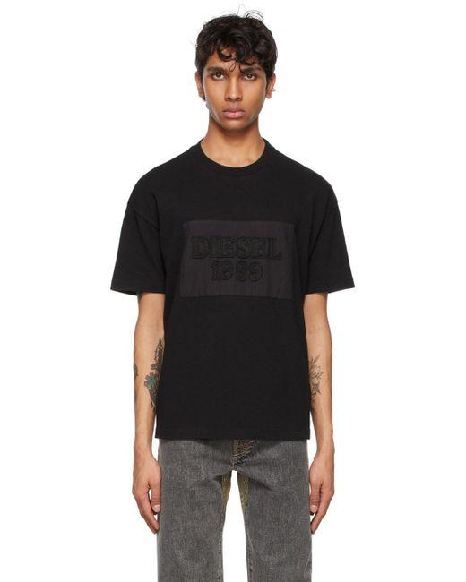 メンズ DIESEL X コレクション ブラック D4d-20 T シャツ Black