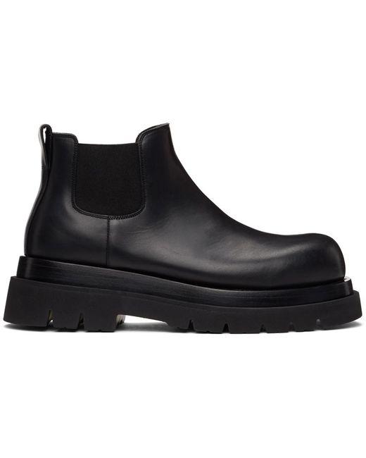 メンズ Bottega Veneta ブラック ロー The Lug チェルシー ブーツ Black