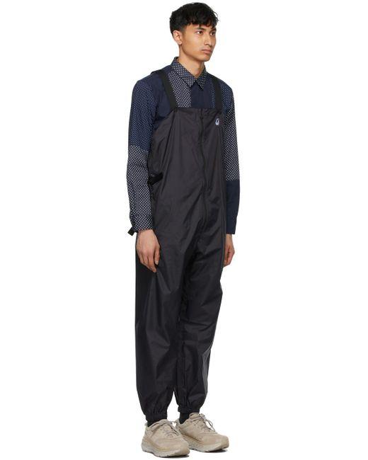 メンズ Engineered Garments K-way エディション ブラック Perry 3.0 オーバーオール Black