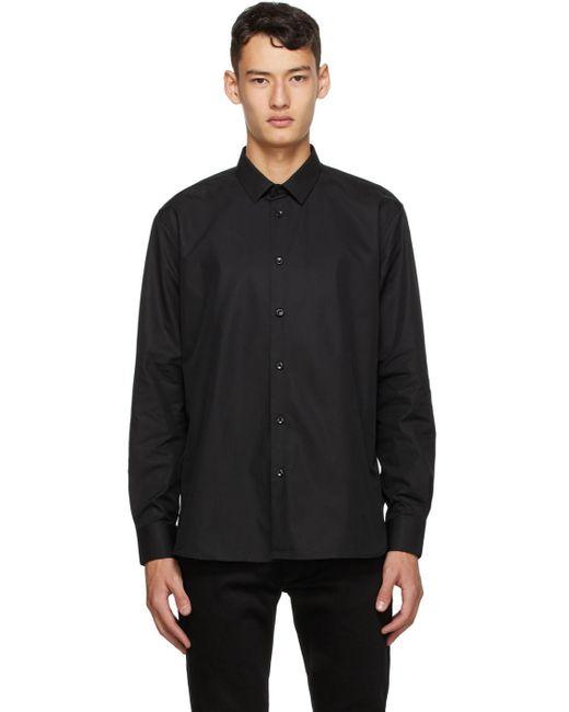 メンズ Saint Laurent ブラック クラシック シャツ Black