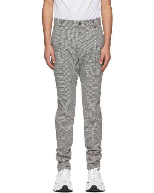 メンズ Dolce & Gabbana グレー Double-pleated トラウザーズ Gray