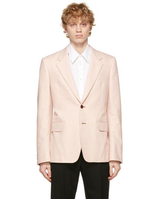 メンズ Alexander McQueen ピンク ブレザー Pink